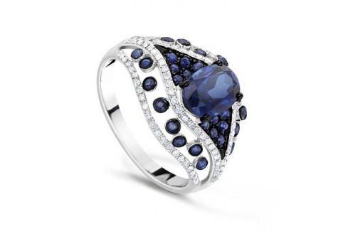 Кольцо с сапфирами и бриллиантами из белого золота VALTERA 65790 Изделия из золота