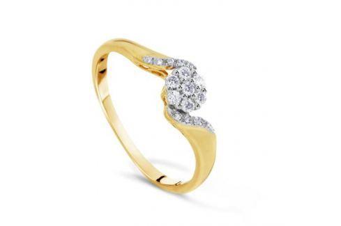 Кольцо с бриллиантами из желтого золота VALTERA 72411 Изделия из золота