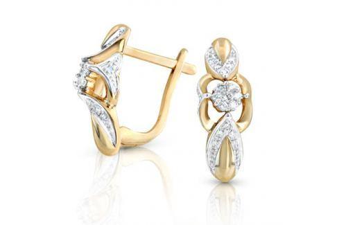 Серьги с бриллиантами из желтого золота VALTERA 52094 Изделия из золота