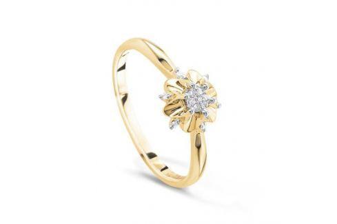 Кольцо с бриллиантами из желтого золота VALTERA 52756 Изделия из золота