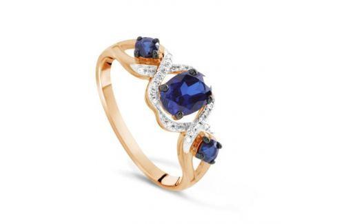 Кольцо с сапфирами и бриллиантами из розового золота VALTERA 71122 Изделия из золота
