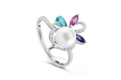 Кольцо с полудрагоценными камнями из белого золота VALTERA 63671 Изделия из золота