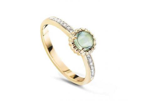 Кольцо с аметистами и бриллиантами из желтого золота VALTERA 53872 Изделия из золота