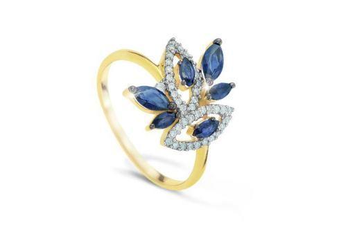 Кольцо с сапфирами и бриллиантами из розового золота VALTERA 41813 Изделия из золота