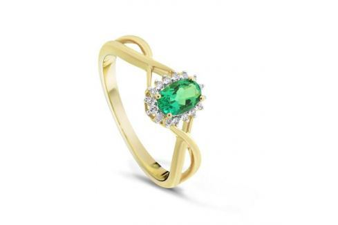Кольцо с изумрудами и бриллиантами из розового золота VALTERA 79730 Изделия из золота