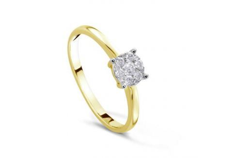 Кольцо с бриллиантами из желтого золота VALTERA 82964 Изделия из золота