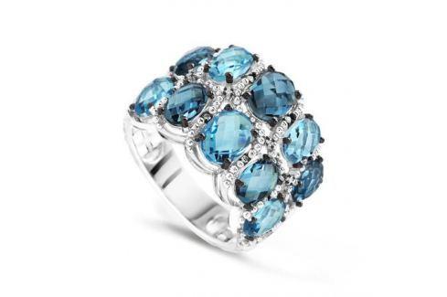 Кольцо с бриллиантами и топазами из белого золота VALTERA 62518 Изделия из золота
