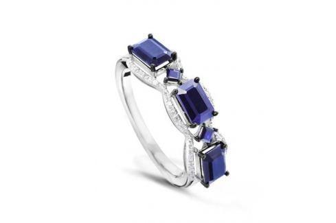 Кольцо с сапфирами и бриллиантами из белого золота VALTERA 50227 Изделия из золота
