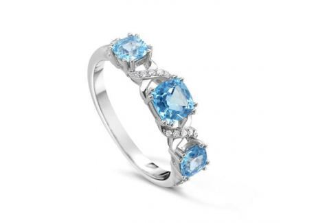 Кольцо с бриллиантами и топазами из белого золота VALTERA 48085 Изделия из золота