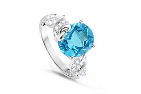 Кольцо с бриллиантами и топазами из белого золота VALTERA 60687 Изделия из золота