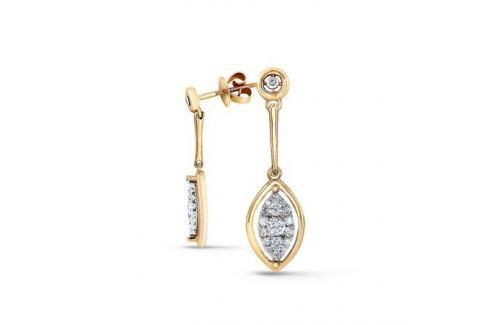 Серьги с бриллиантами из розового золота VALTERA 68370 Изделия из золота