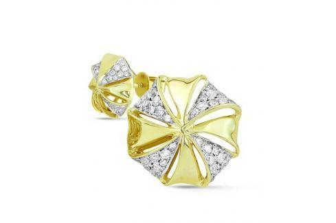 Серьги с бриллиантами из желтого золота VALTERA 43409 Изделия из золота