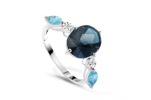 Кольцо с бриллиантами и топазами из белого золота VALTERA 66824 Изделия из золота