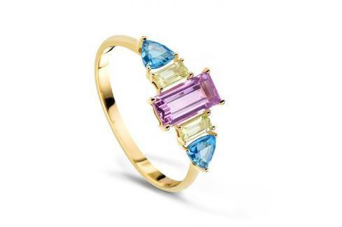 Кольцо с полудрагоценными камнями из желтого золота VALTERA 60797 Изделия из золота