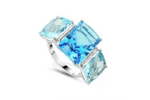Кольцо с бриллиантами и топазами из белого золота VALTERA 50841 Изделия из золота
