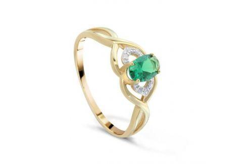 Кольцо с изумрудами и бриллиантами из розового золота VALTERA 89928 Изделия из золота