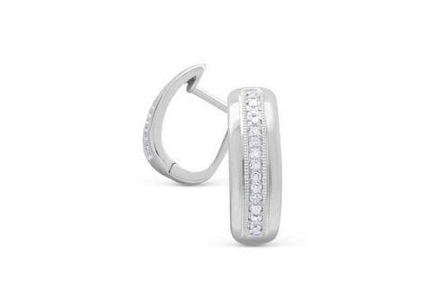 Серьги с бриллиантами из белого золота VALTERA 89934 Изделия из золота