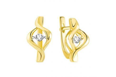 Серьги с бриллиантами из желтого золота VALTERA 90759 Изделия из золота