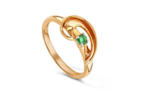 Кольцо с изумрудами из розового золота VALTERA 87953 Изделия из золота