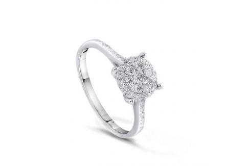 Кольцо с бриллиантами из белого золота VALTERA 75952 Изделия из золота