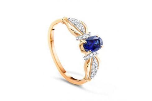 Кольцо с сапфирами и бриллиантами из розового золота VALTERA 90048 Изделия из золота