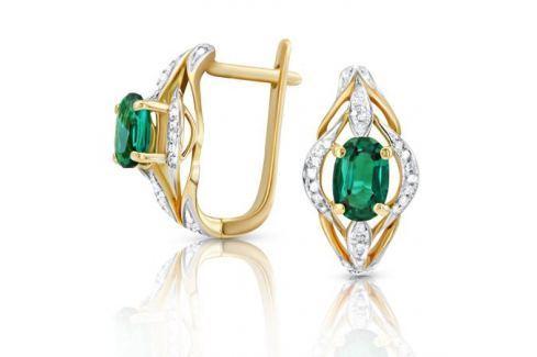 Серьги с изумрудами и бриллиантами из розового золота VALTERA 91786 Изделия из золота