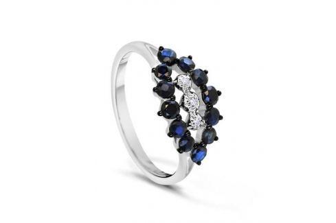 Кольцо с сапфирами и бриллиантами из белого золота VALTERA 54739 Изделия из золота