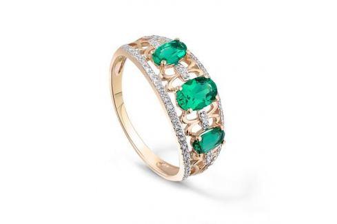 Кольцо с изумрудами и бриллиантами из розового золота VALTERA 89982 Изделия из золота