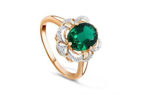 Кольцо с изумрудами и бриллиантами из желтого золота VALTERA 89976 Изделия из золота