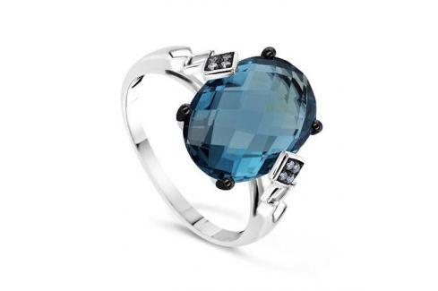 Кольцо с бриллиантами и топазами из белого золота VALTERA 57587 Изделия из золота