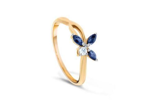 Кольцо с сапфирами и бриллиантами из розового золота VALTERA 76305 Изделия из золота