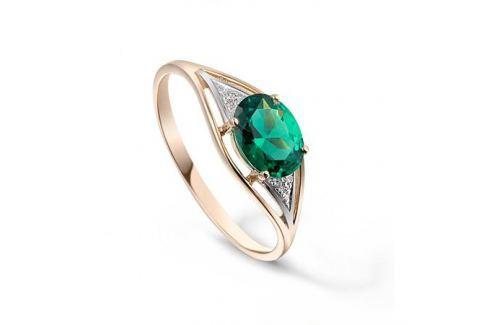 Кольцо с изумрудами и бриллиантами из розового золота VALTERA 92682 Изделия из золота
