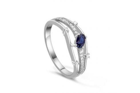 Кольцо с сапфирами и бриллиантами из белого золота VALTERA 39686 Изделия из золота
