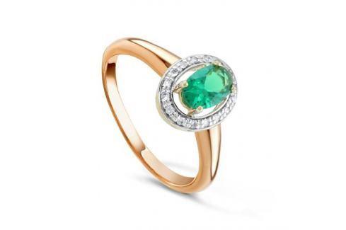 Кольцо с изумрудами и бриллиантами из розового золота VALTERA 92042 Изделия из золота