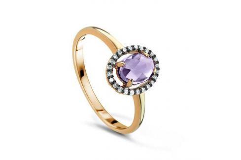 Кольцо с аметистами и бриллиантами из желтого золота VALTERA 53138 Изделия из золота