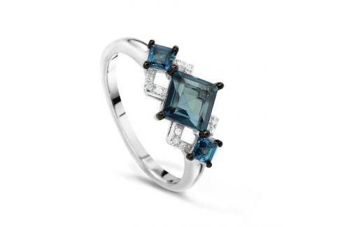 Кольцо с бриллиантами и топазами из белого золота VALTERA 49945 Изделия из золота