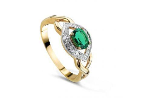 Кольцо с изумрудами и бриллиантами из розового золота VALTERA 75410 Изделия из золота