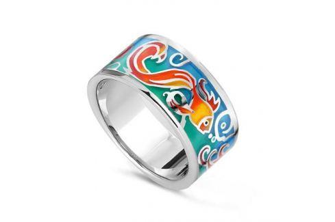 Кольцо с эмалью из серебра VALTERA 78452 Изделия из серебра