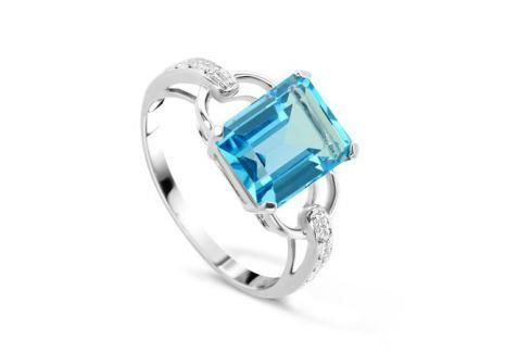 Кольцо с бриллиантами и топазами из белого золота VALTERA 48303 Изделия из золота